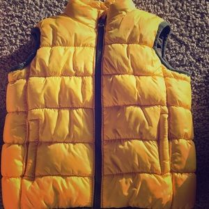Yellow & Camouflage Puffer Vest
